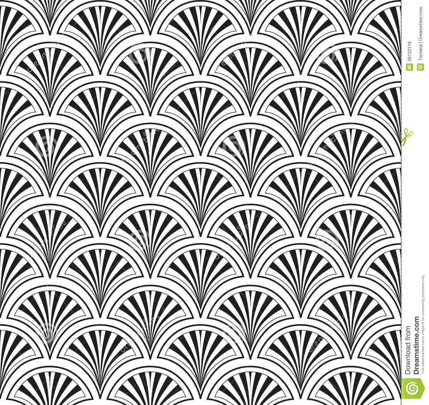 Black And White Victorian Wallpaper Seamless Texture With Floral Ornament Royalty Free Stock