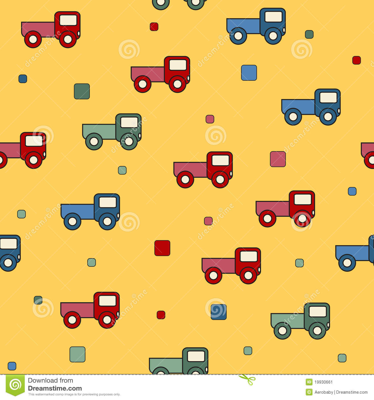 Audio Car Wallpaper Download Seamless Truck Toys Background Stock Vector Image 19930661