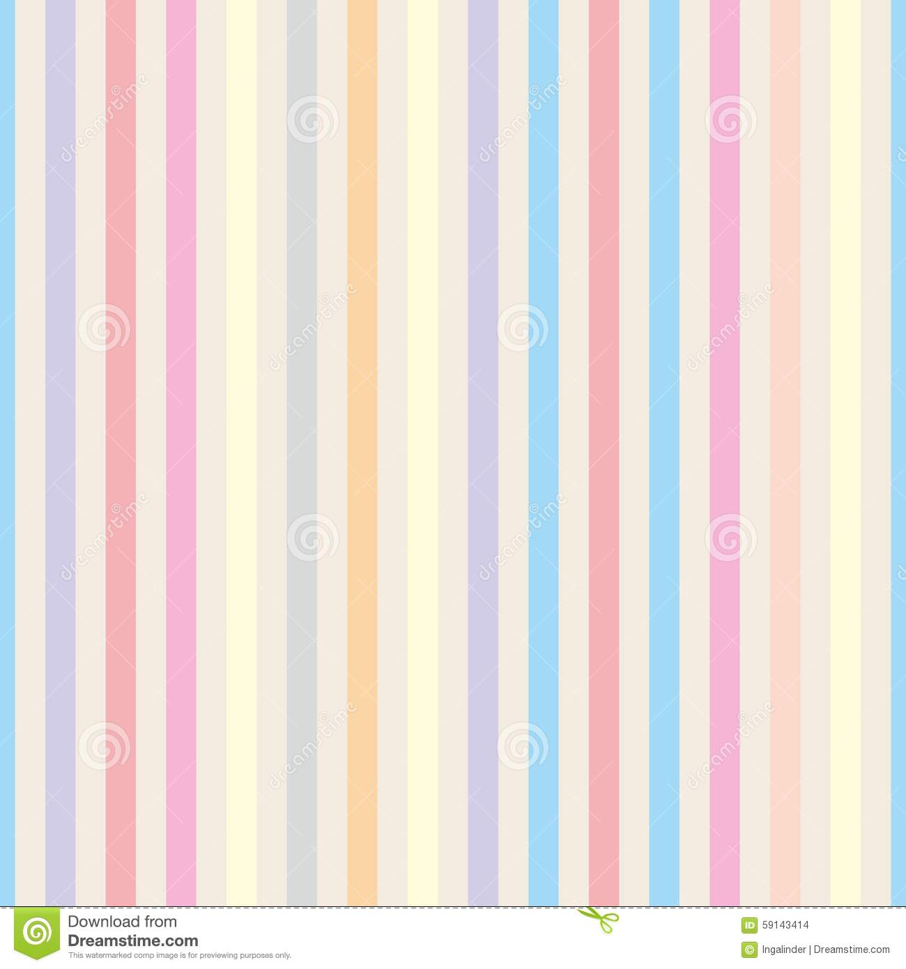 Seamless vector pastel stripes background stock vector