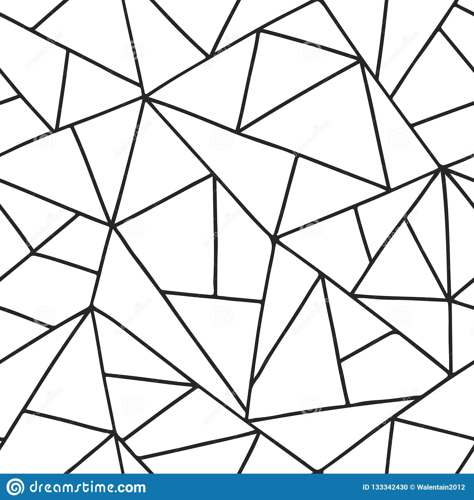 Graphic Stock Free Trial Seamless Vector Pattern Black And White Lined Asymmetric