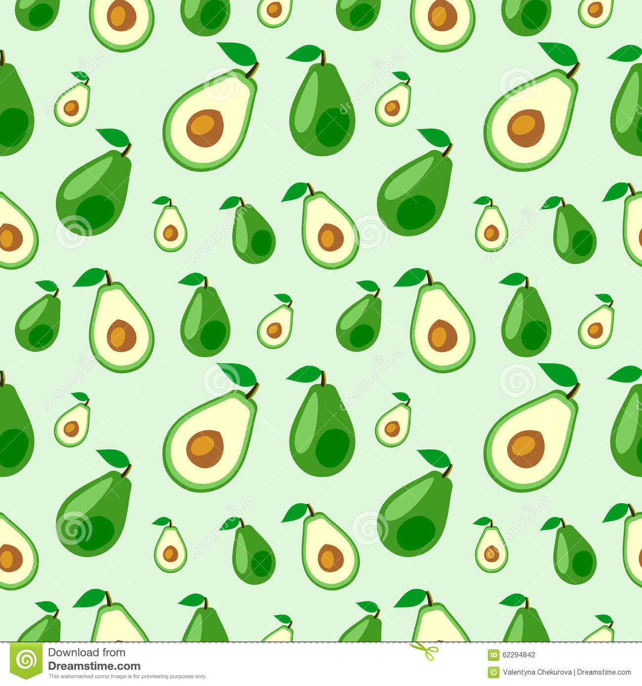 Cute Kiwi Wallpaper Seamless Vector Pattern Fruits Chaotic Background With
