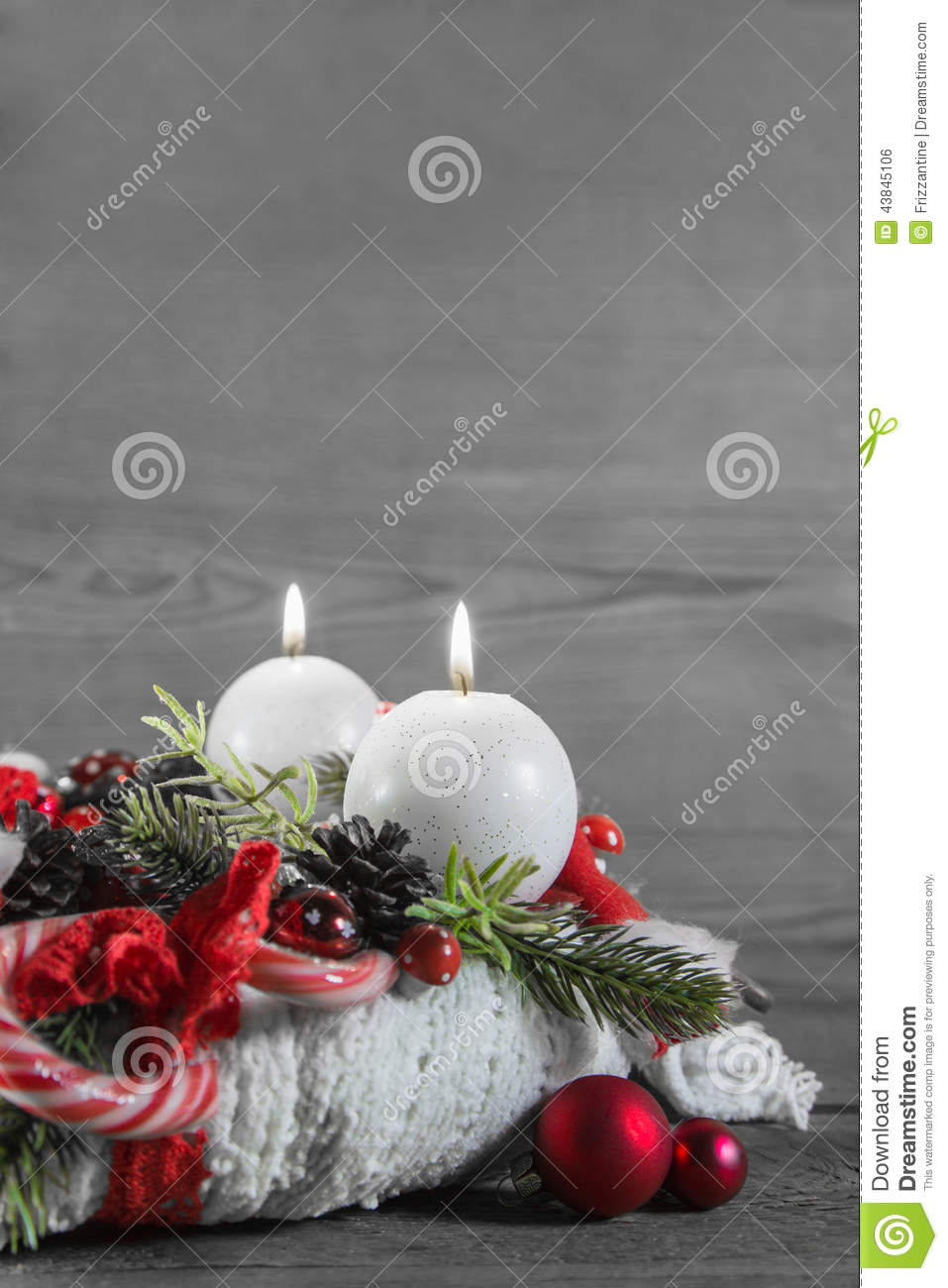 Bilder Zum Advent Second Advent Two Red Burning Candles On Wooden Shabby Background
