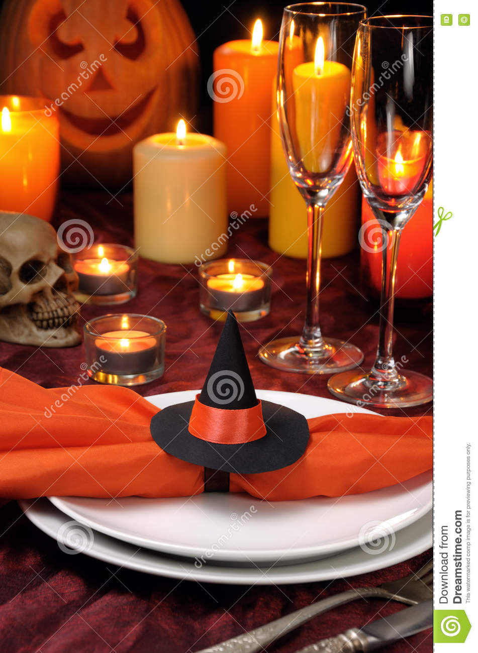 Serviette De Table Halloween Serviette De Décor Halloween Photo Stock Image Du Festive