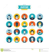 Set Of Avatar Flat Design Icons Stock Vector - Image: 40410989