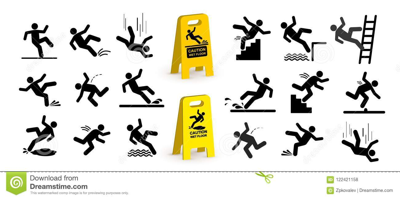 Man Falling Down Stairs Stock Illustrations 57 Man