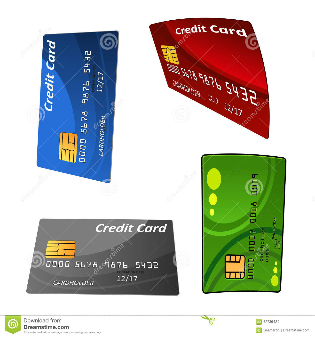 No Credit Check Financing Electronics Set Of Colorful Credit Bank Cards Stock Vector Image