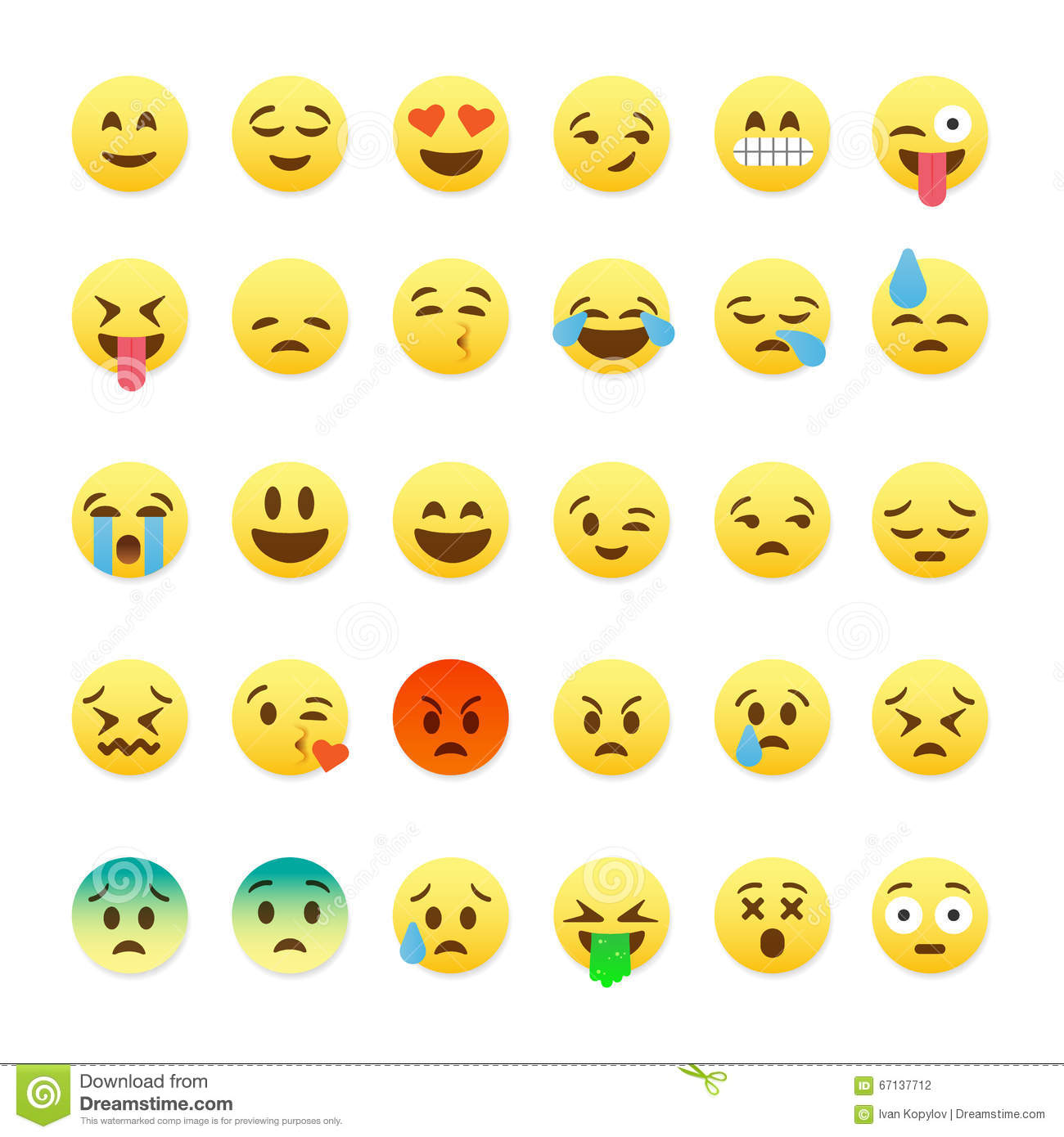 Cute Chat Wallpaper For Whatsapp Set Of Cute Smiley Emoticons Emoji Flat Design Stock
