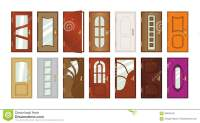 Set Of Different Types Of Doors. Stock Illustration ...