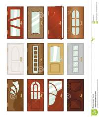 Set Of Different Types Of Doors. Stock Illustration