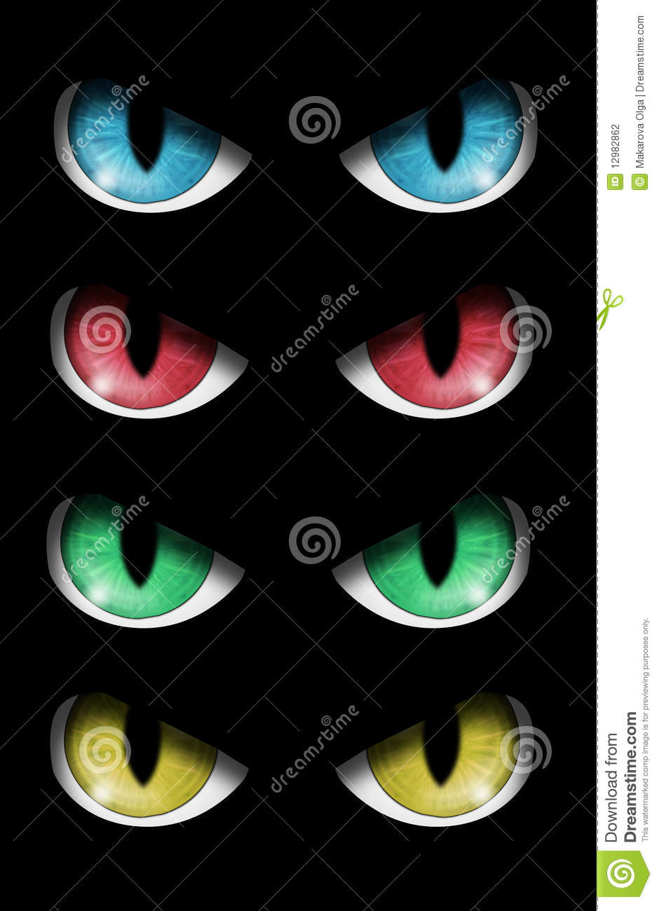Stock Image Dreamstime Set Of Evil Eyes Stock Photography Image 12982862