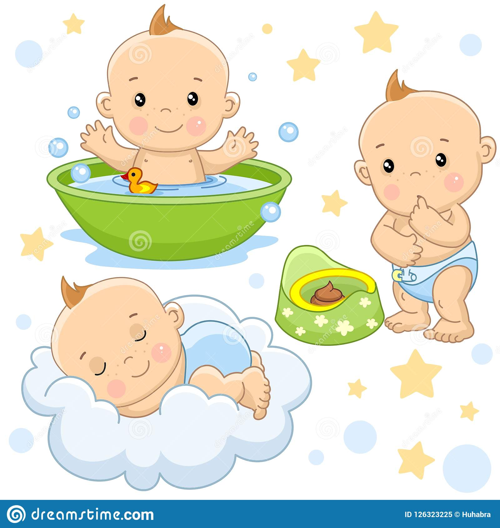 Part Douche Baby Boy 4 Part Stock Vector Illustration Of Mouth 126323225