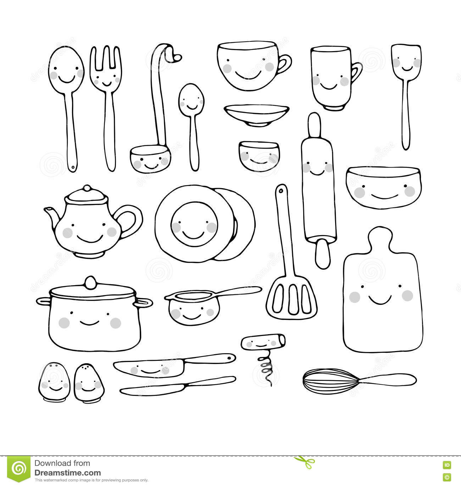 Kitchen Tools Drawings kitchen tools drawing