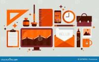Set Of Office Tools Illustration Stock Vector ...