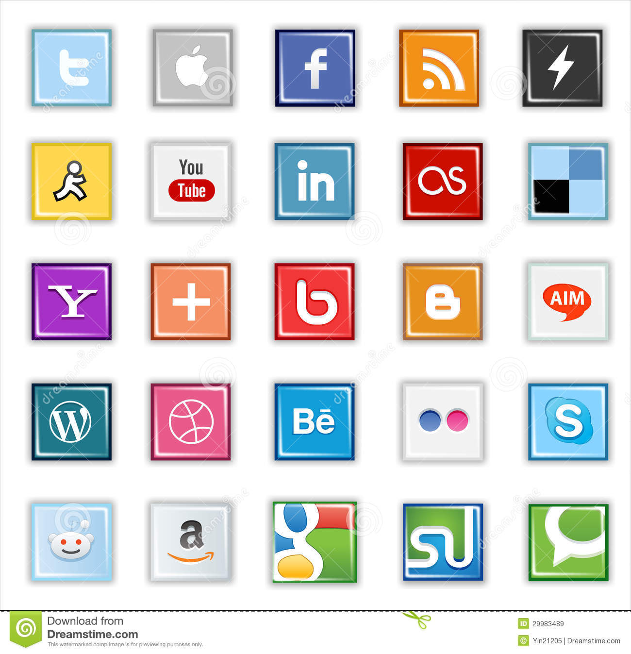 Email Icon Isolated On Special Yellow Square Button Abstract Square Social Media Buttons Editorial Stock Image Image