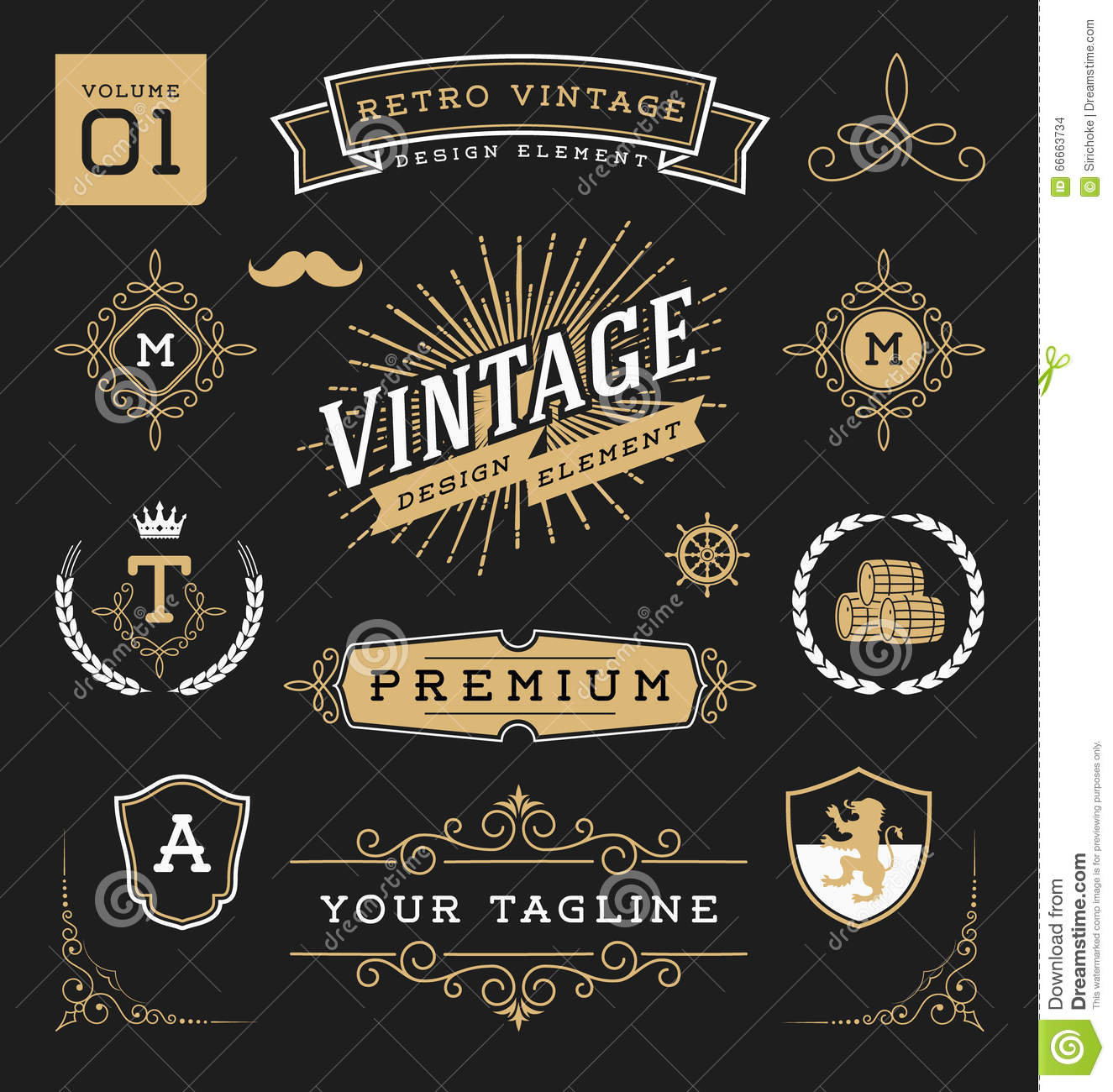 Vintage Design Vintage Graphic Design Elements Home Related Vector