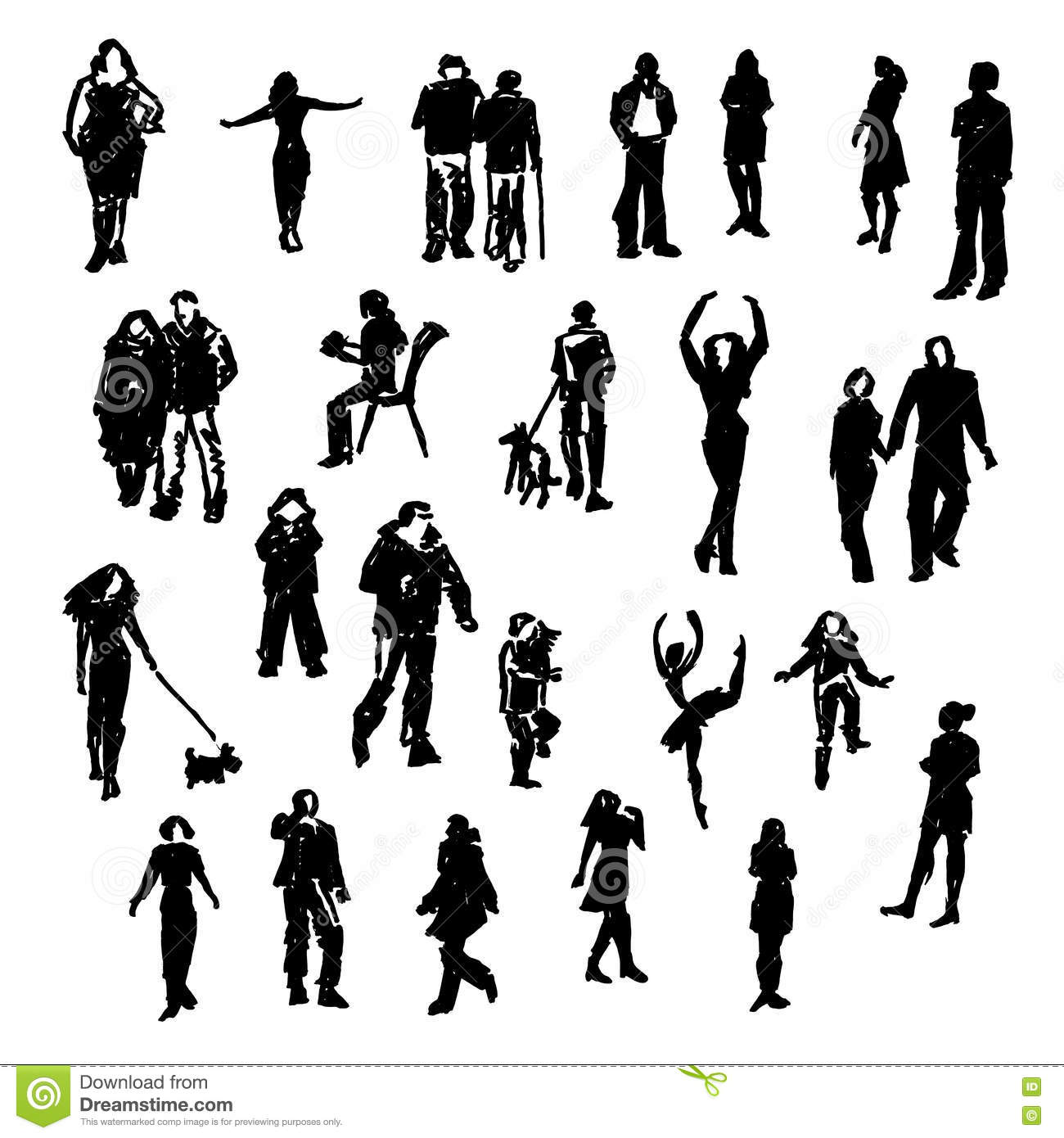 Silhouettes Men Stock Vector Image Of Male Illustration Auto Gtdx100em0ww Wiring Diagram Ge Timer Switch Set People Cartoon