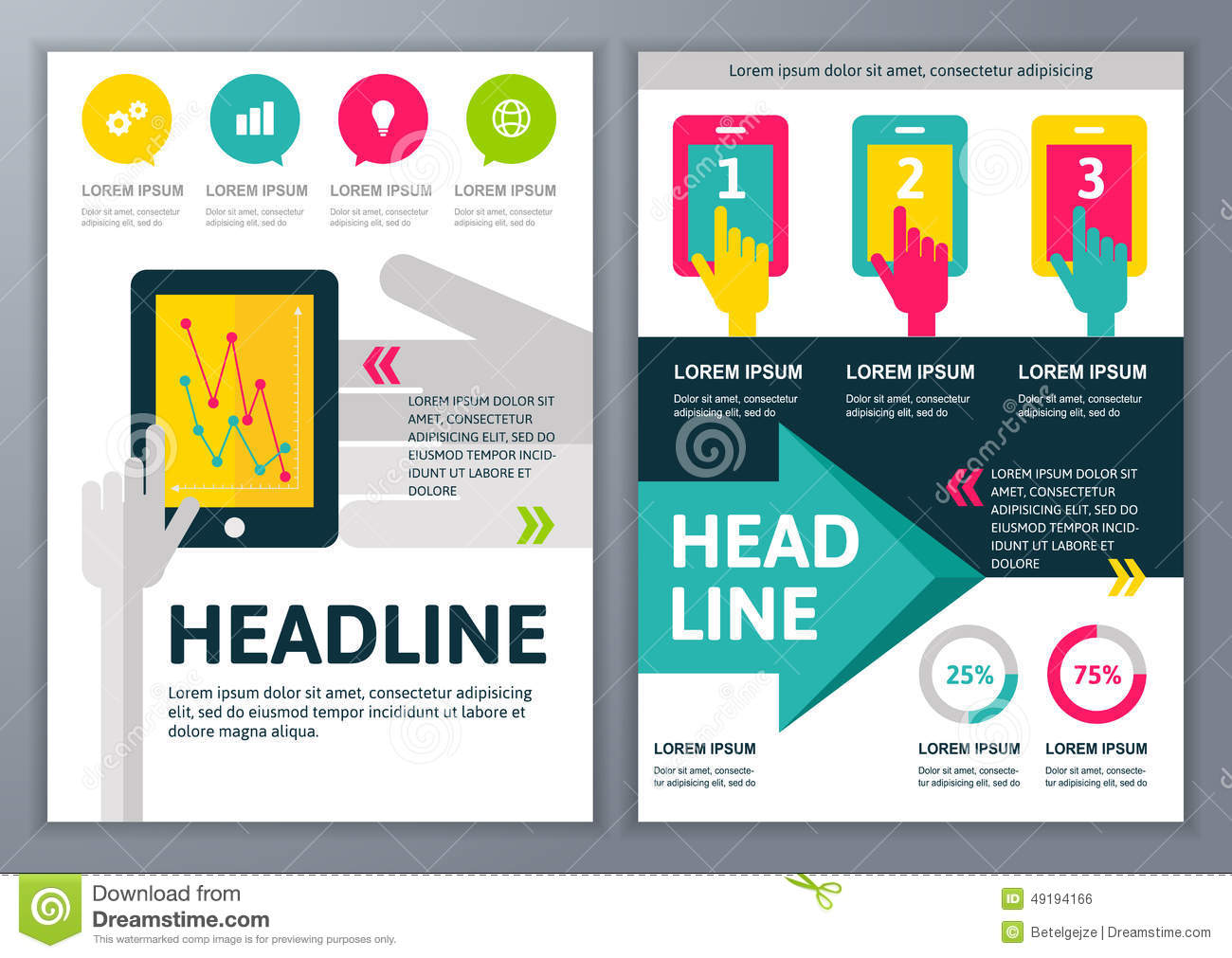 Poster design free template - Design Poster Creator Free Set Of Vector Template For Brochure Flyer Poster Application Download