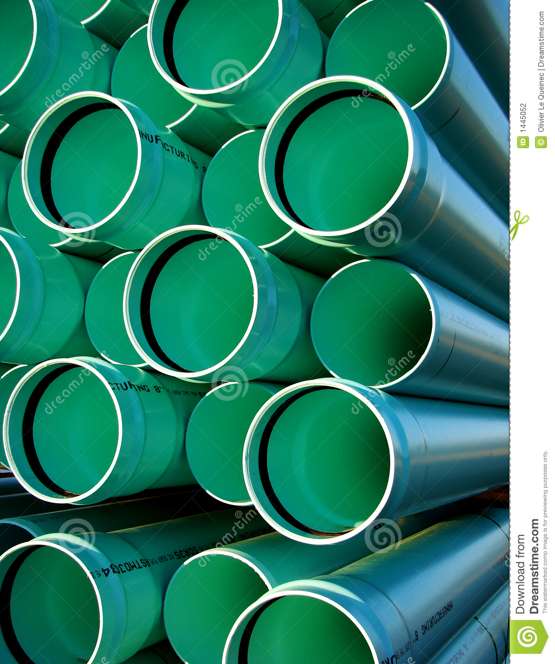 Sewer Drain Pvc Pipes On Housing Construction Site Stock