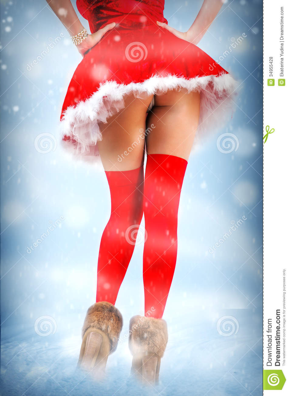 Modern Girl Wallpaper Free Download Christmas Card Legs In Stockings Stock Photo Image Of