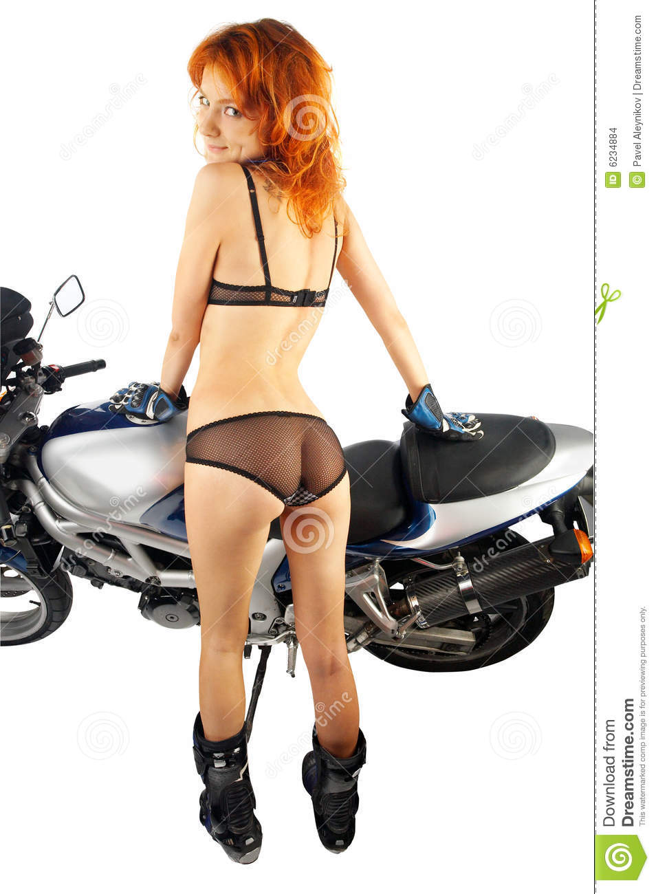 Biker Girl Wallpaper Free Download Girl With Motorcycle Equipment Stock Images Image 6234884