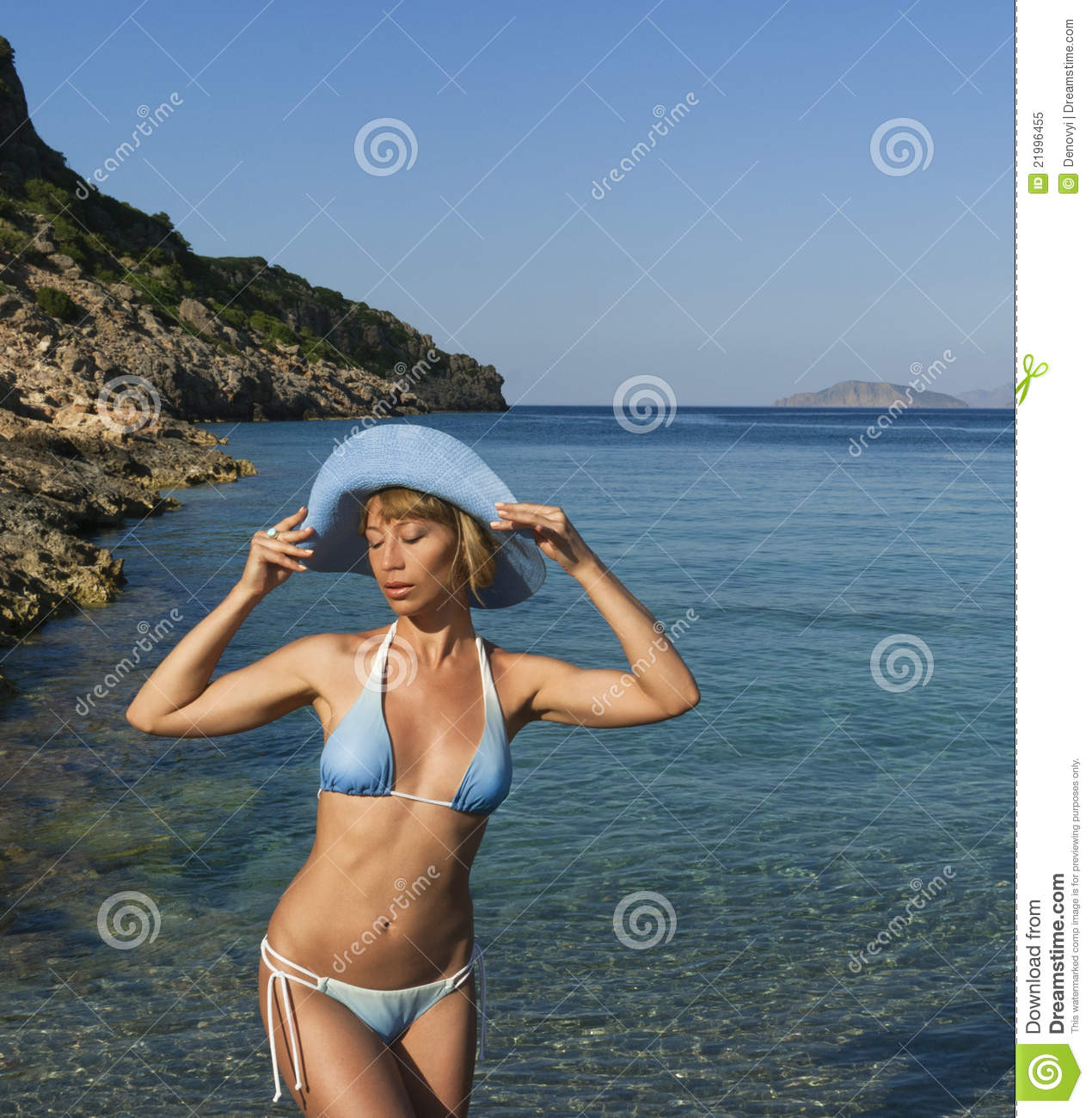 Wallpaper Cowboy Girl Sexy Woman Dreaming Near Clear Sea Royalty Free Stock