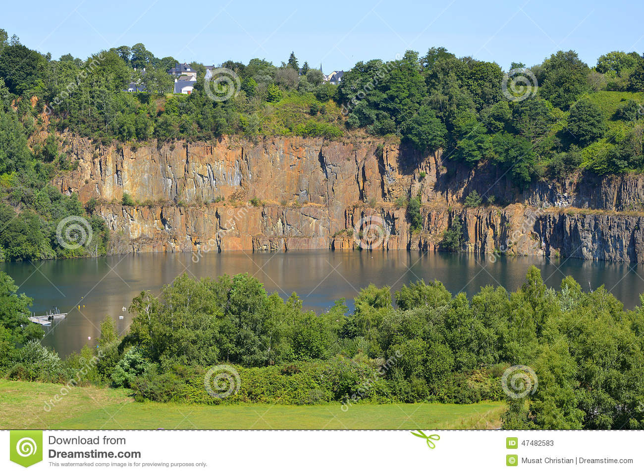 Abritel Ille Et Vilaine Shale Quarry At Fougeres In France Stock Photo Image