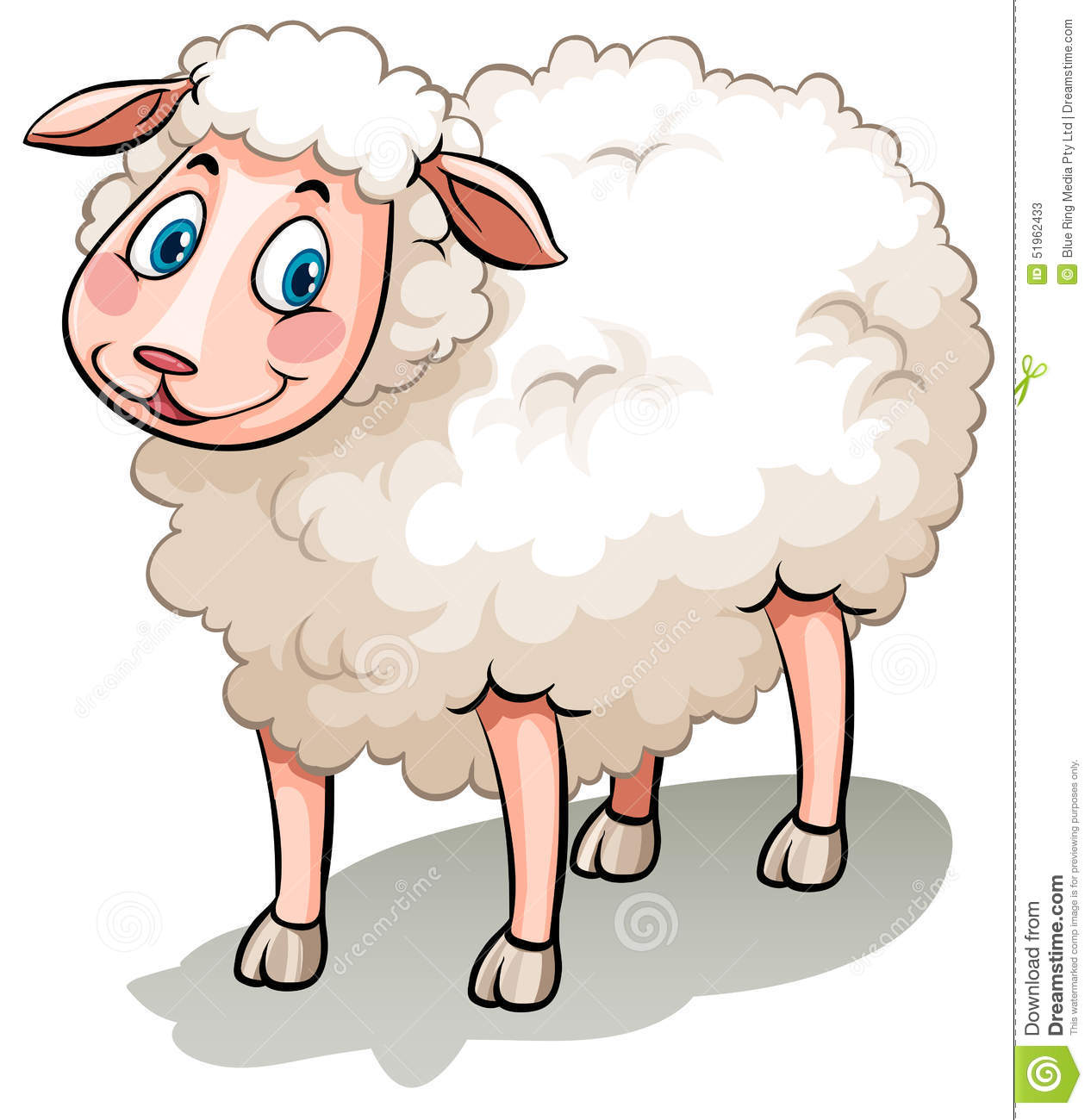 Animal Farm Wallpaper Sheep Stock Vector Image 51962433
