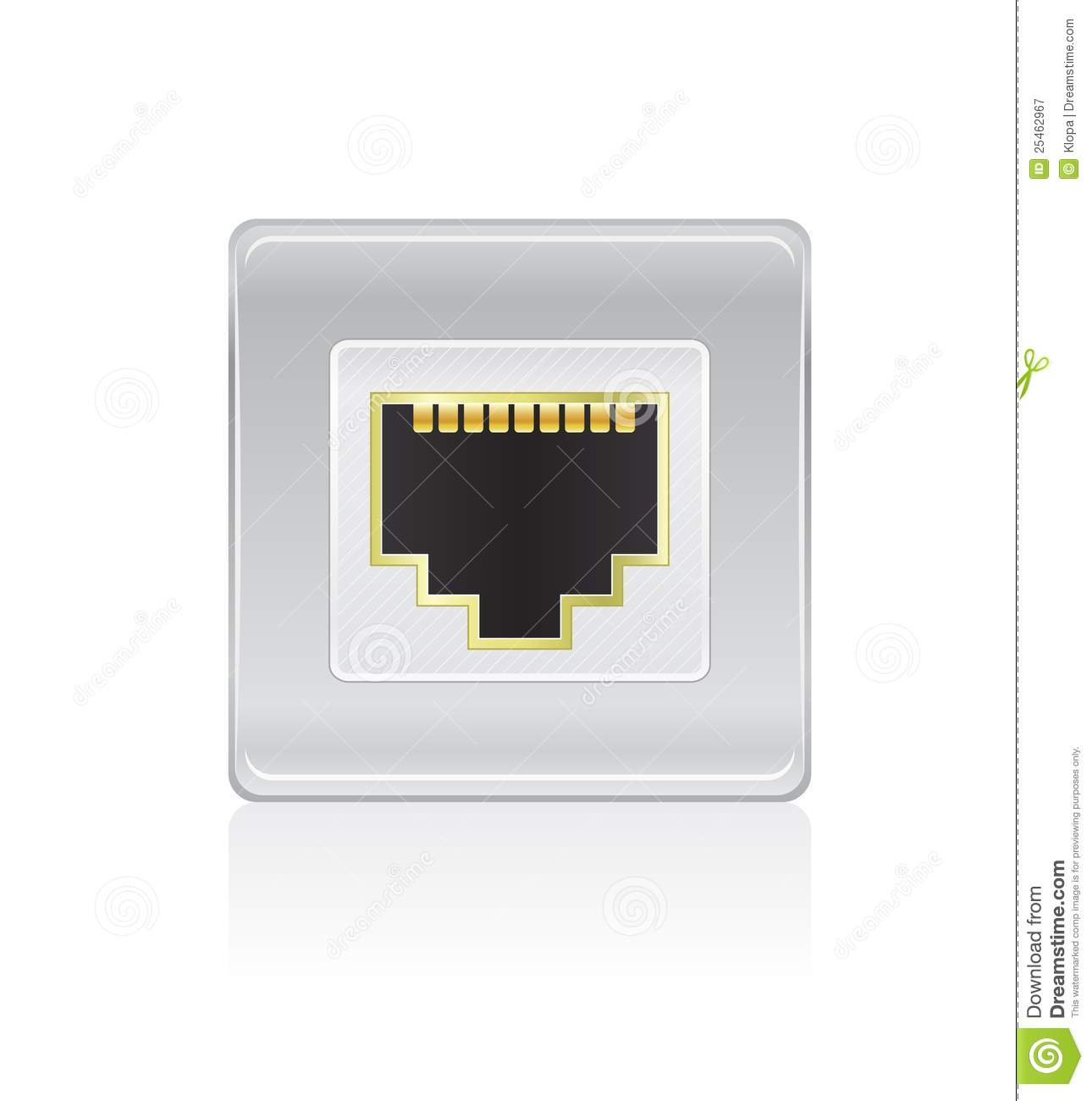 Port Network Shiny Network Port Icon Stock Vector Illustration Of Connect