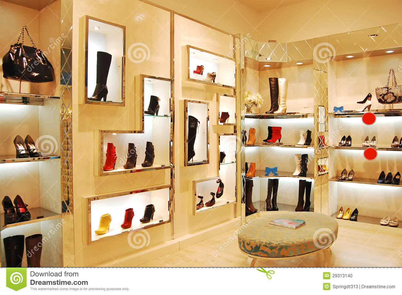 Store En Stock Shoes And Bags In Store Stock Photo Image Of Colorful 29313140