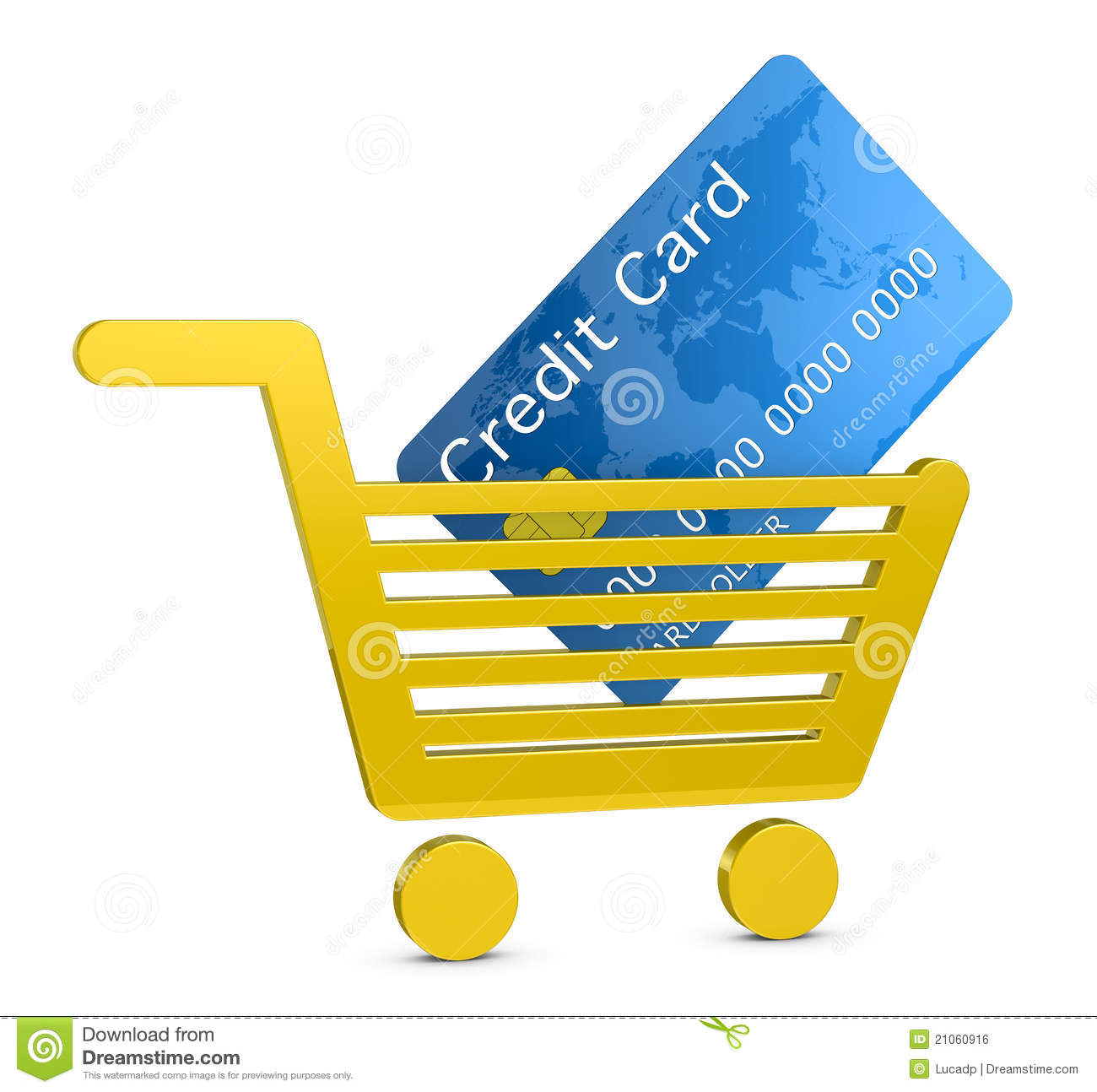 Stores Credit Card Shopping With A Credit Card Royalty Free Stock Image