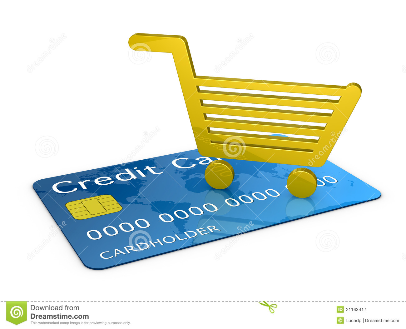 Stores Credit Card Shopping With A Credit Card Royalty Free Stock Photography