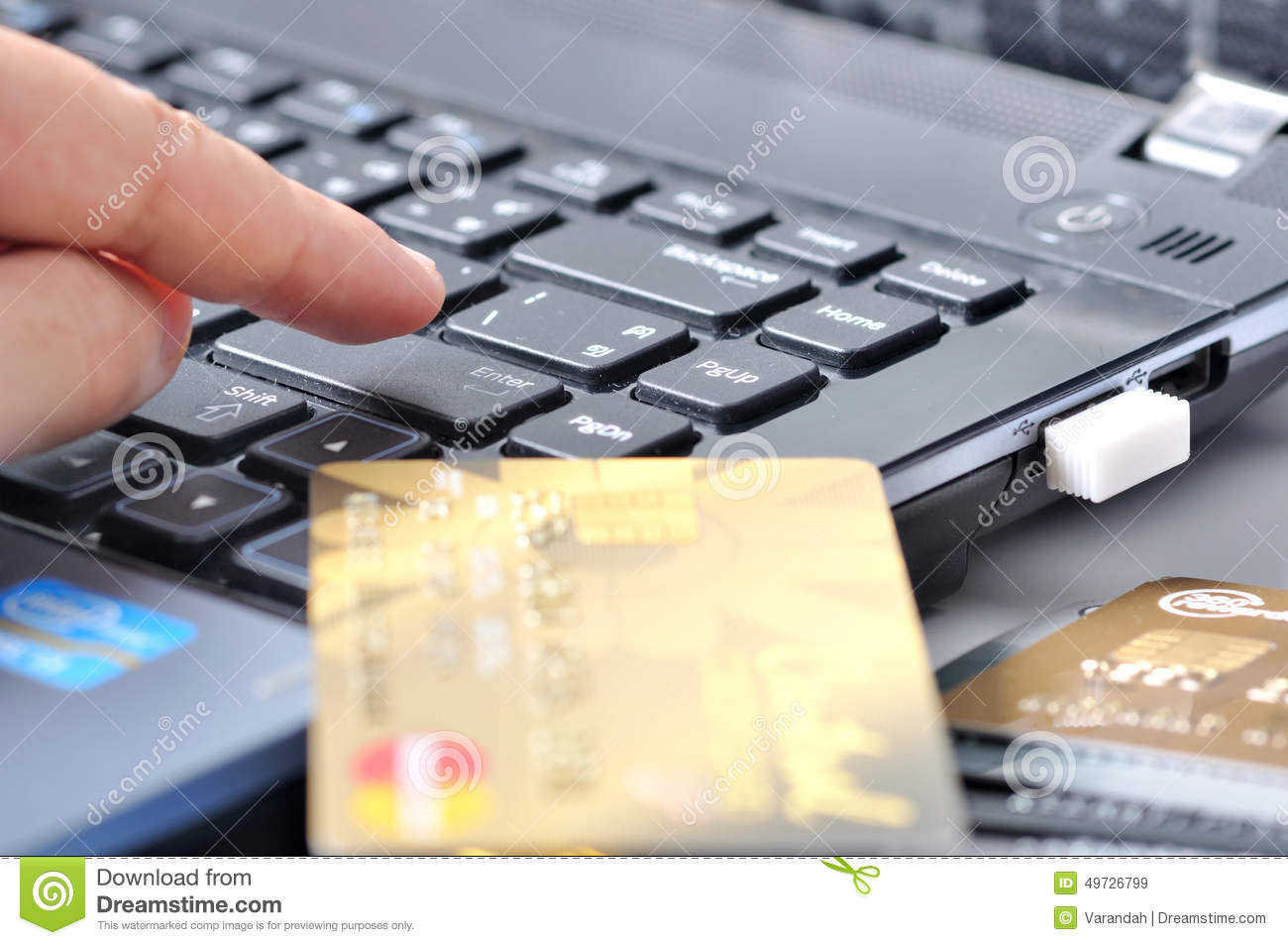 Online Shopping Mode Of Payment Shopping Online Payment Stock Photo Image 49726799