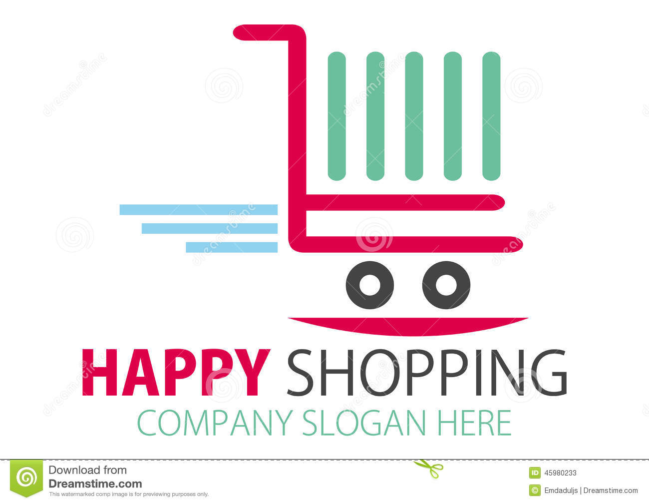 Online Decor Shopping Shopping Station Logo Design Stock Vector Image 45980233