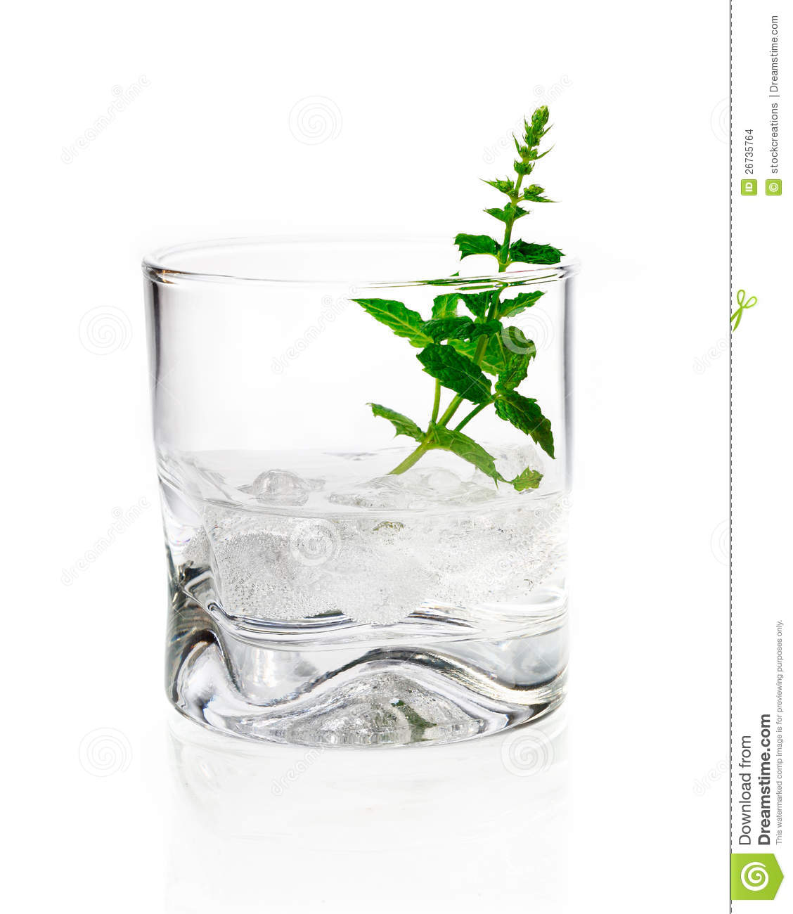 Tumbler Glas Shot Of Gin, Vermouth Or Vodka Stock Images - Image: 26735764