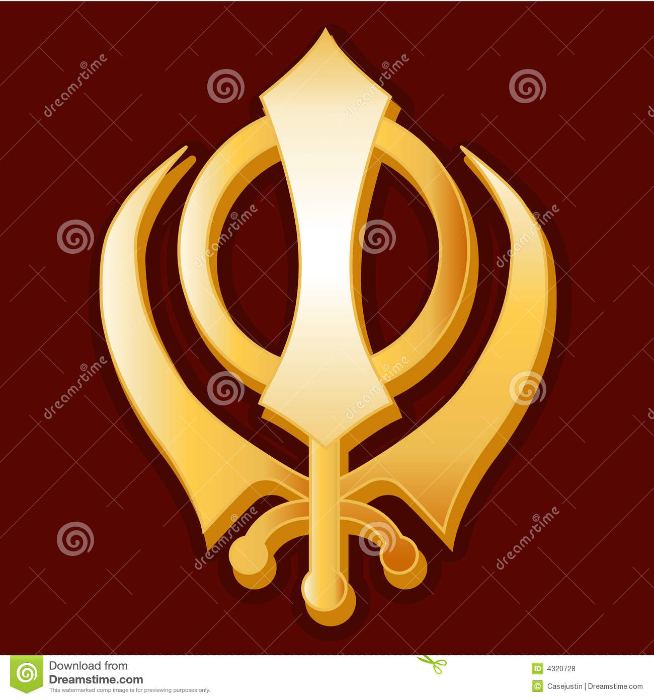 3d Khanda Wallpaper Sikh Symbol Royalty Free Stock Photos Image 4320728