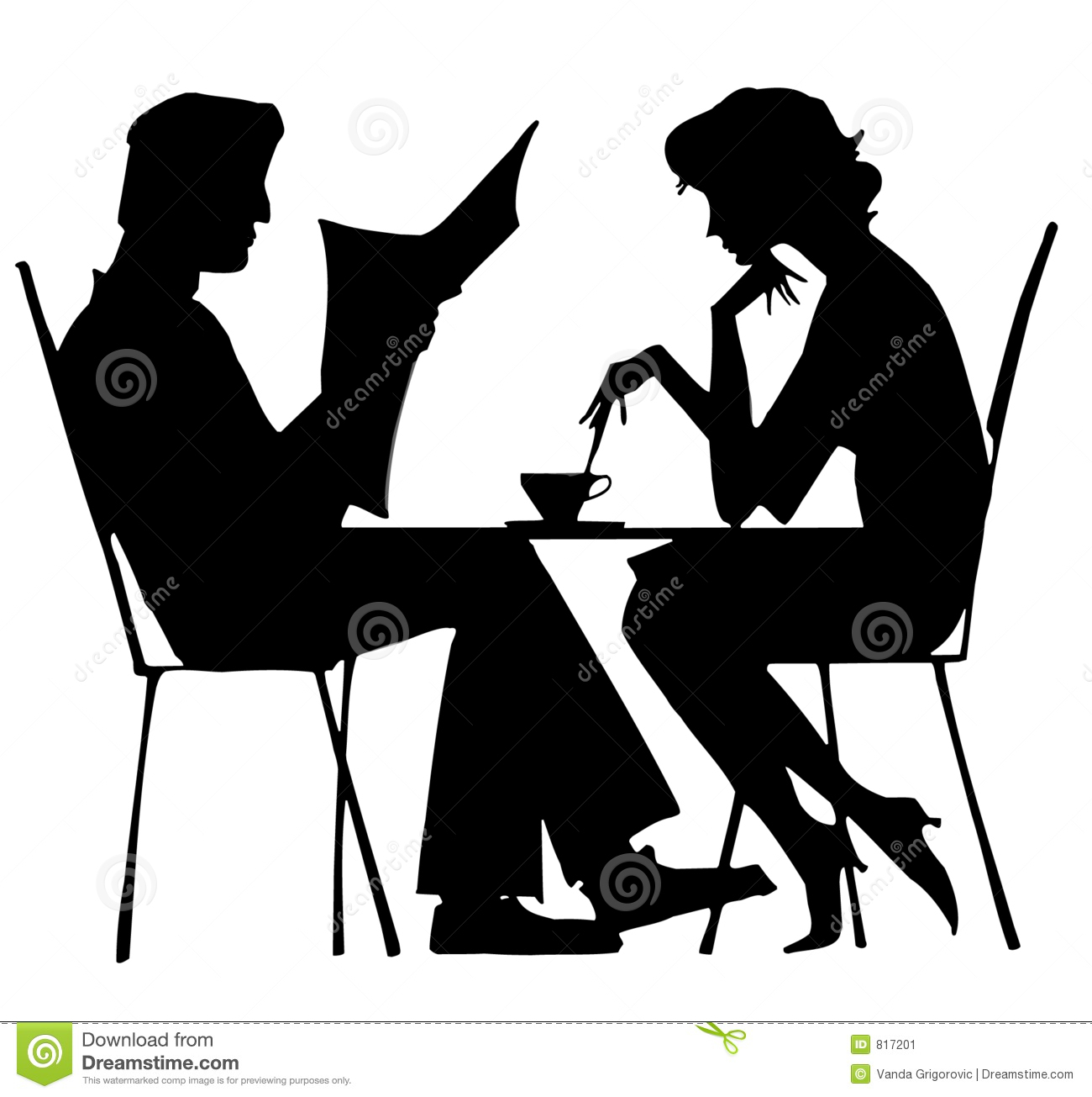 Silhouette of couple stock image image 817201