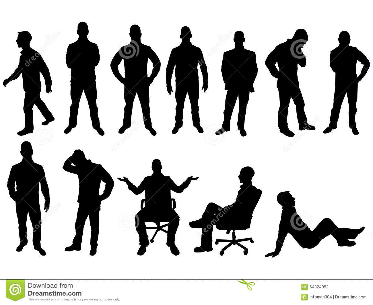 Silhouette Paintings Of People Silhouette De Diverses Personnes Dans Diverses Positions