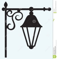 Silhouette Lamp Of Wrought Metal Stock Images - Image ...