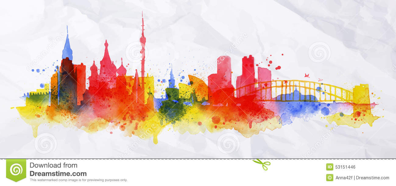 Barcelona Logo 3d Wallpaper Silhouette Overlay City Moscow Stock Vector Image 53151446