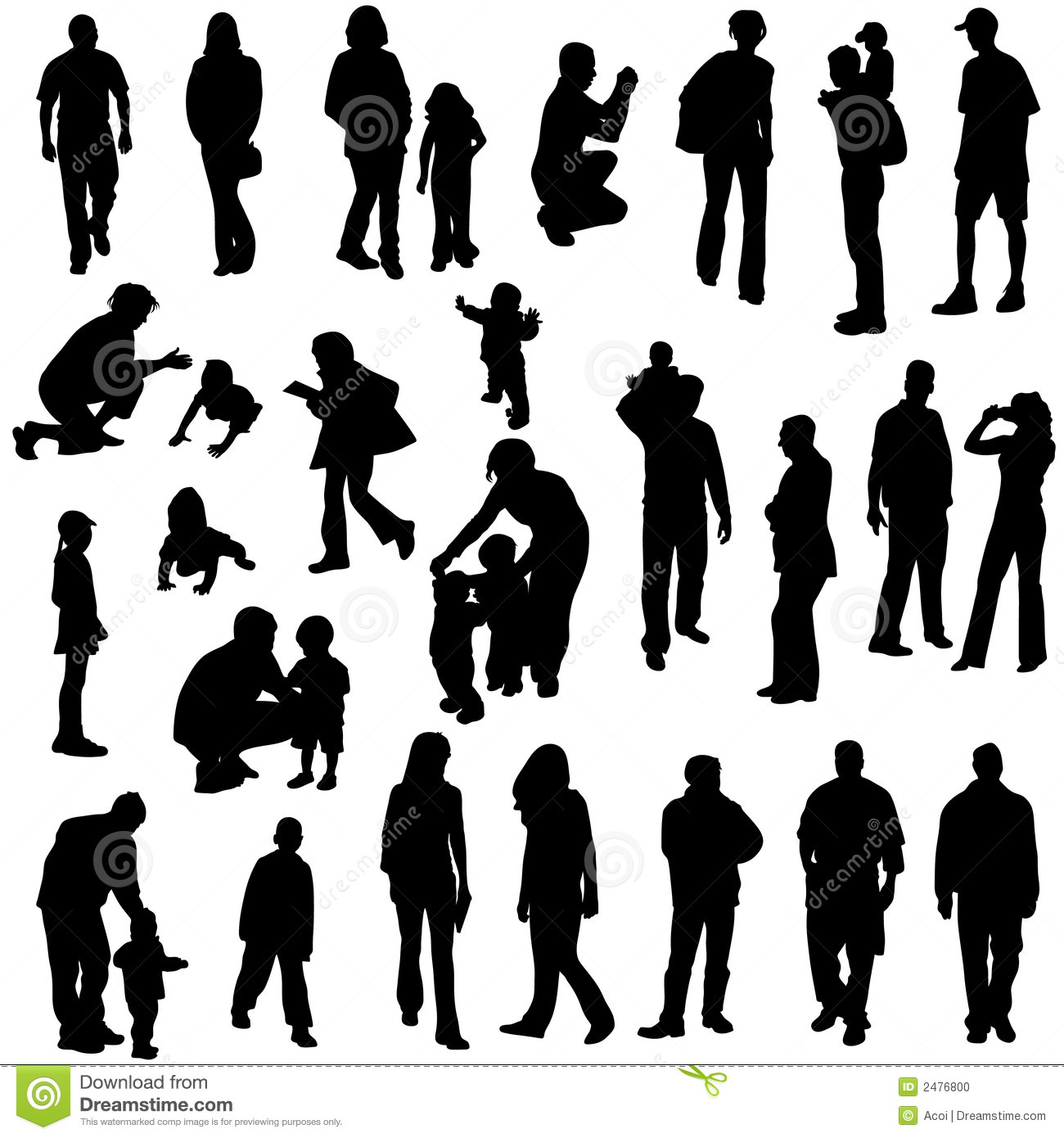 Silhouette Paintings Of People Silhouetten Van Mensen Vector Illustratie Illustratie