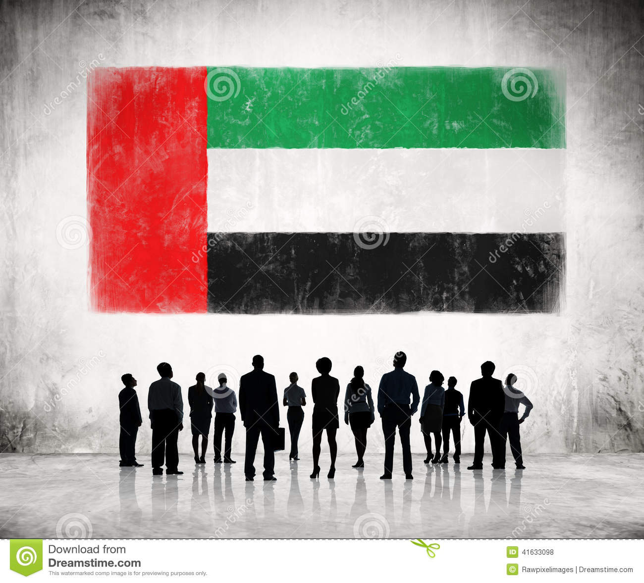 Skyline Car Wallpaper Hd Silhouettes Of Business People Looking At The Flag Of Uae