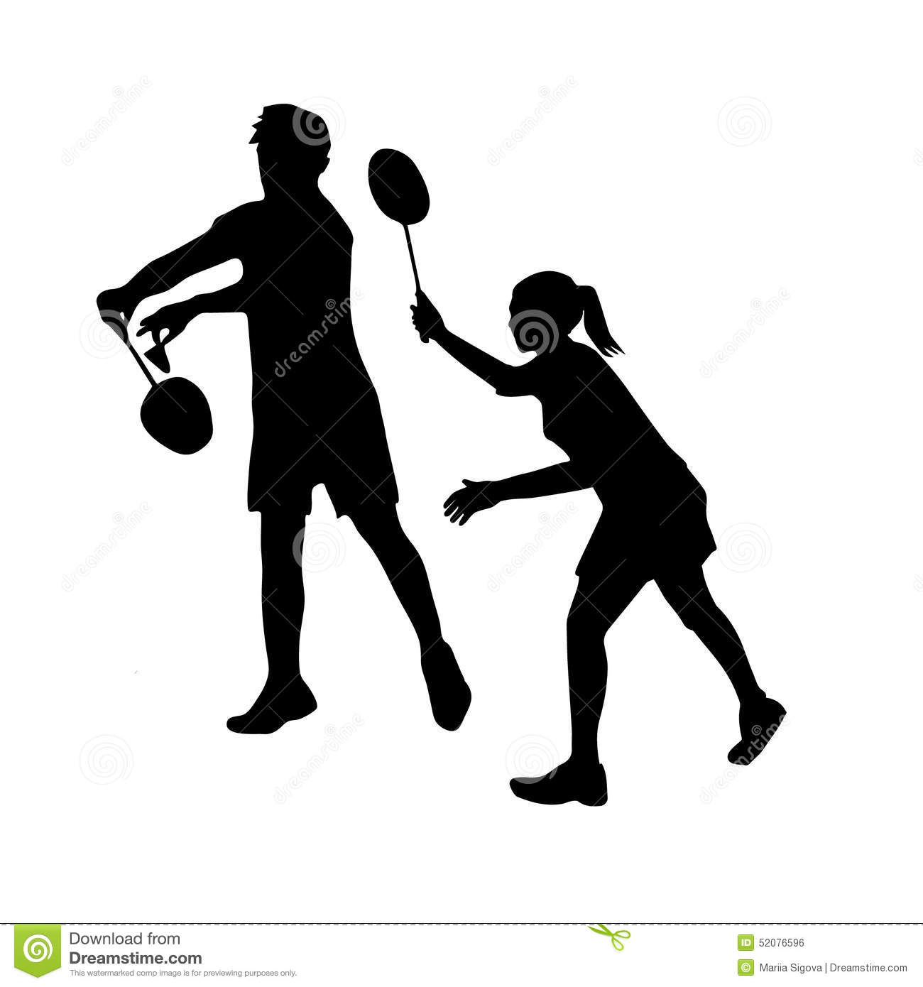 Tennis Players Hd Wallpapers Silhouettes Of Mixed Team Badminton Players Mixed Stock