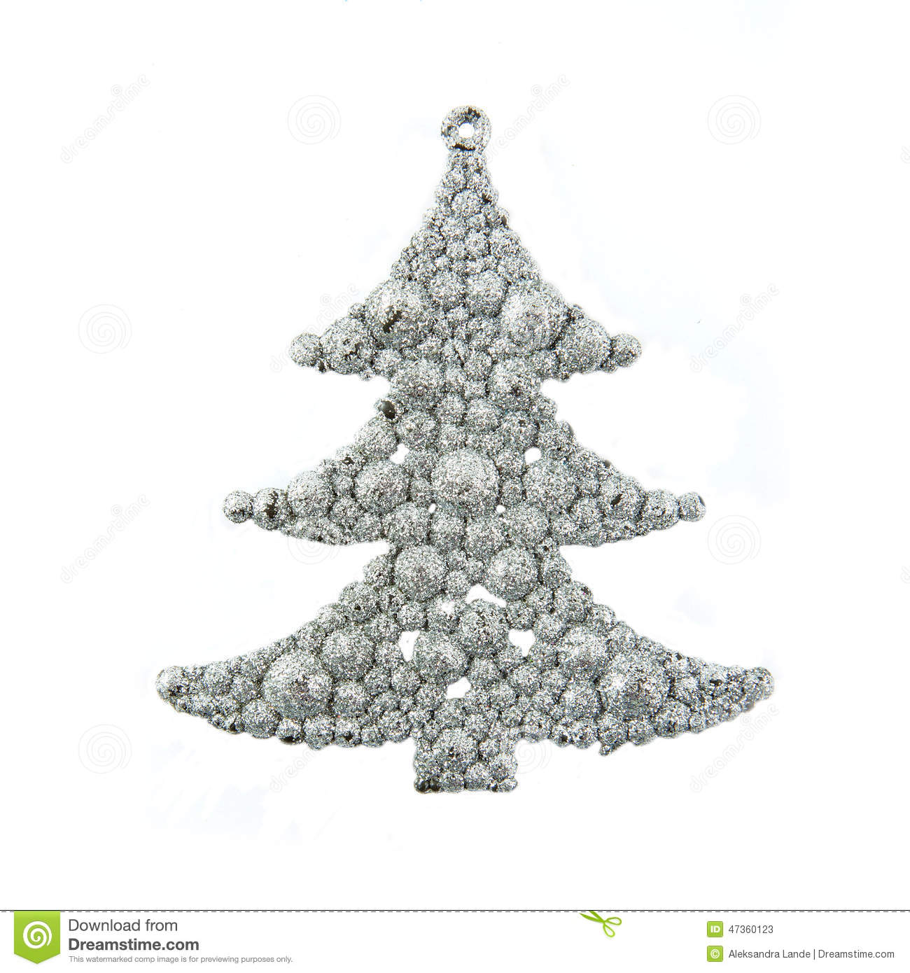 Zilveren Kerstboom Silver Christmas Tree Toy Stock Image Image Of Glittery