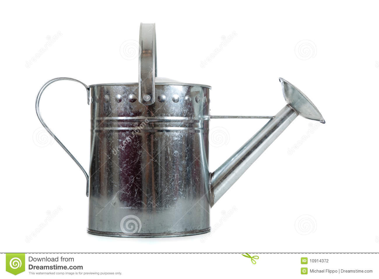 Galvanized Watering Cans Silver Galvanized Watering Can Stock Photography Image
