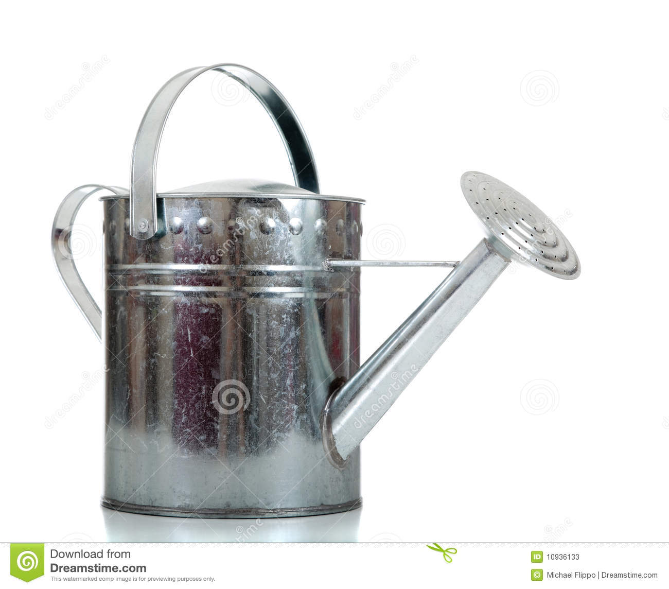 Galvanized Watering Cans Silver Galvanized Watering Can Stock Image Image 10936133