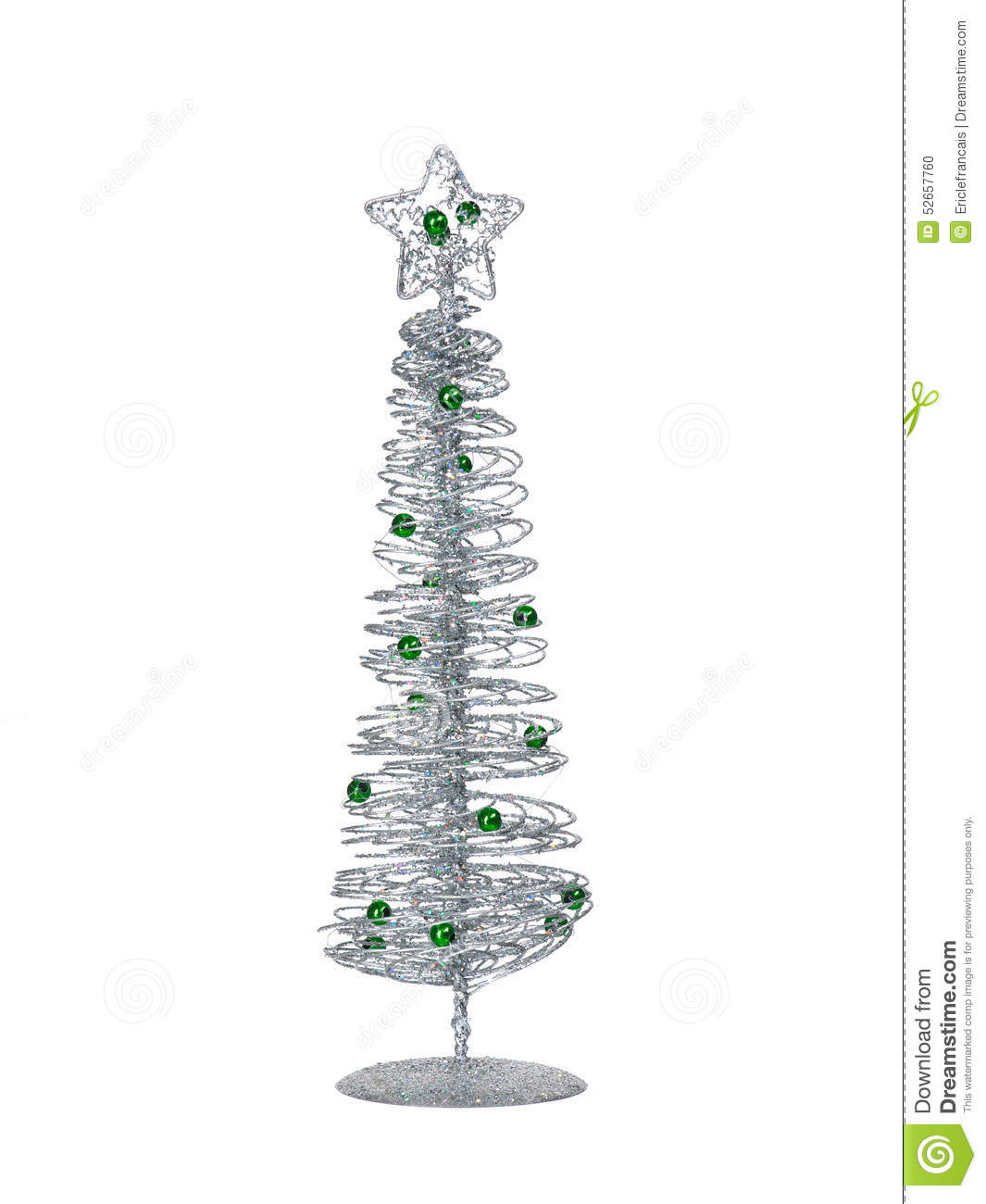Zilveren Kerstboom Silver Modern Christmas Tree Isolated On White Background