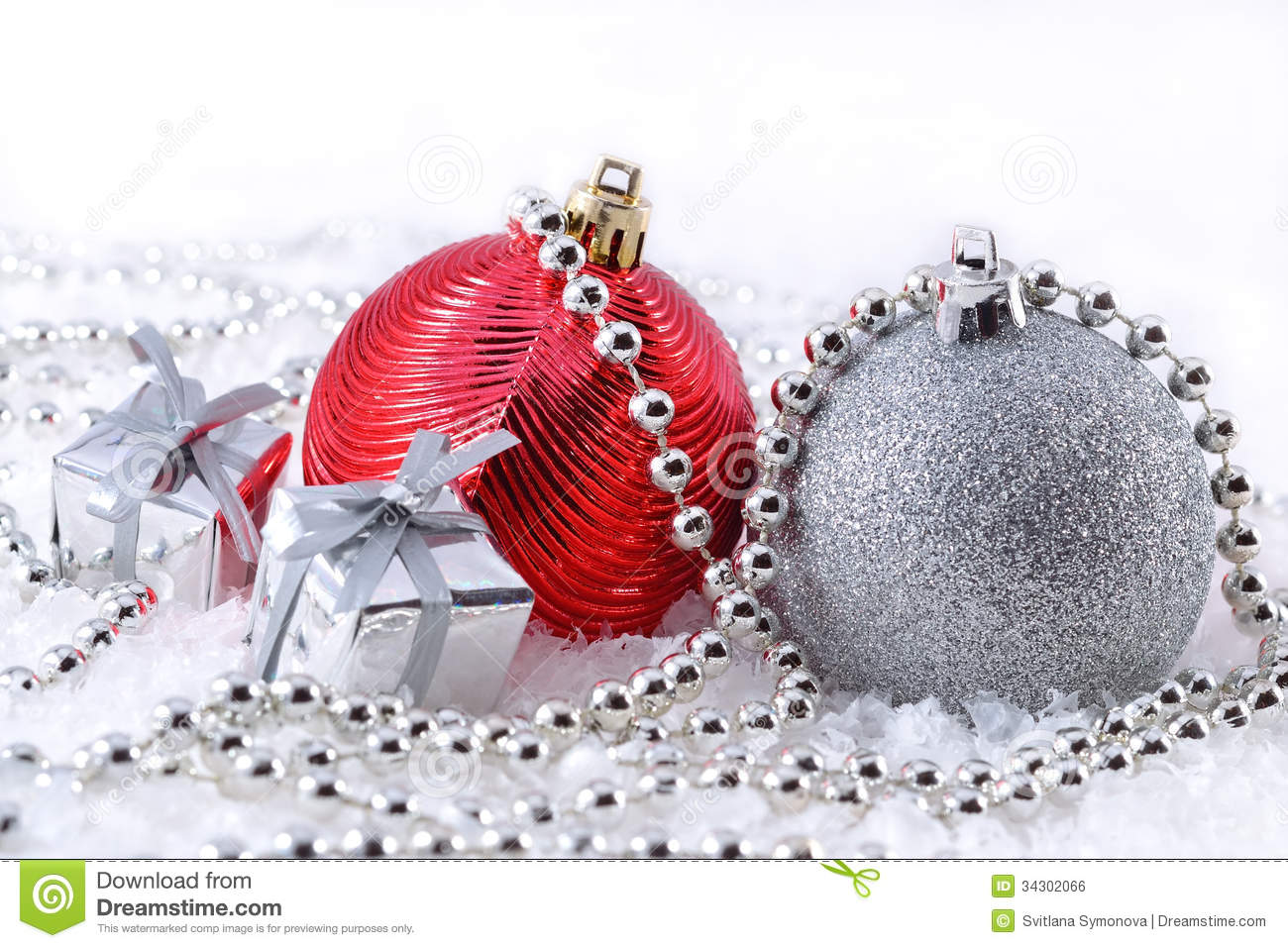 Background christmas red silver