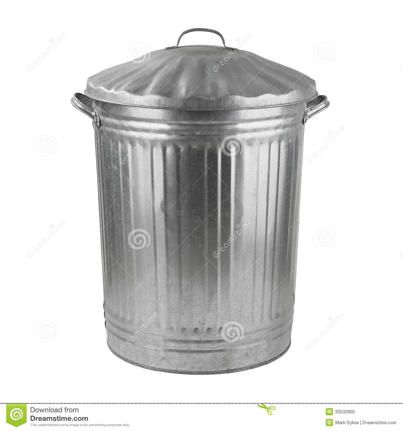 Silver Trash Cans Silver Steel Trash Can Stock Image Image Of Clipping