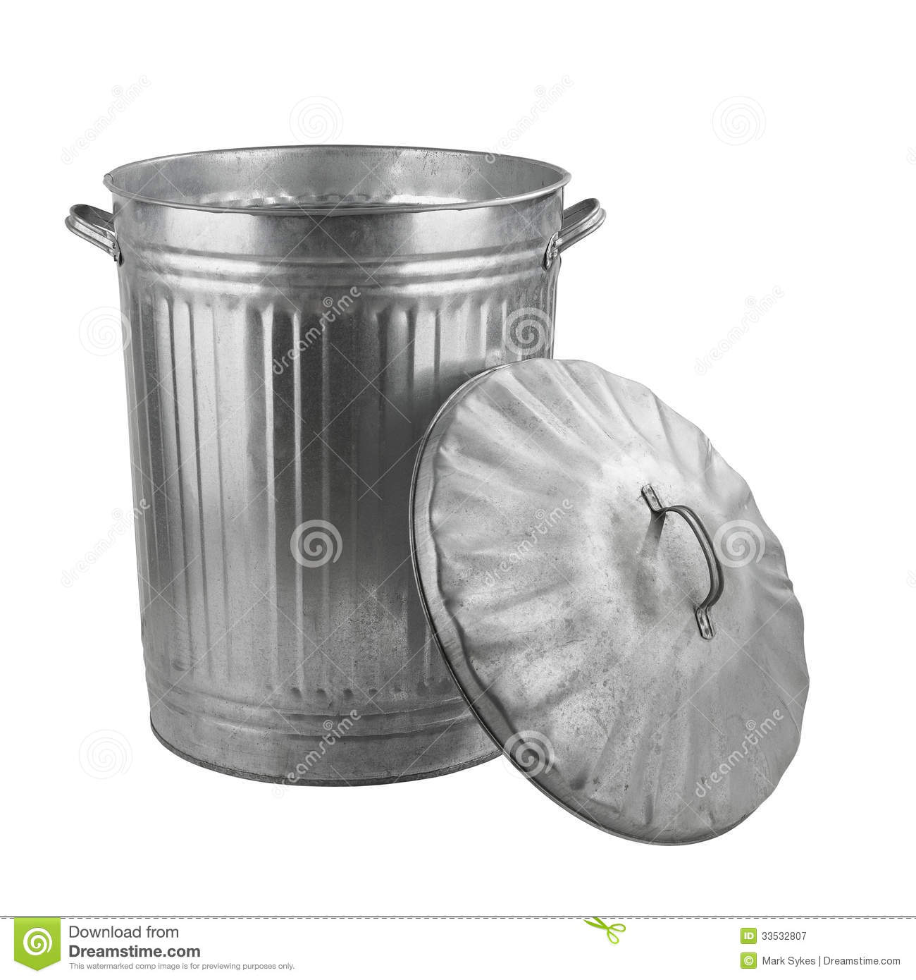 Silver Trash Cans Silver Steel Trash Can Stock Image Image Of Background