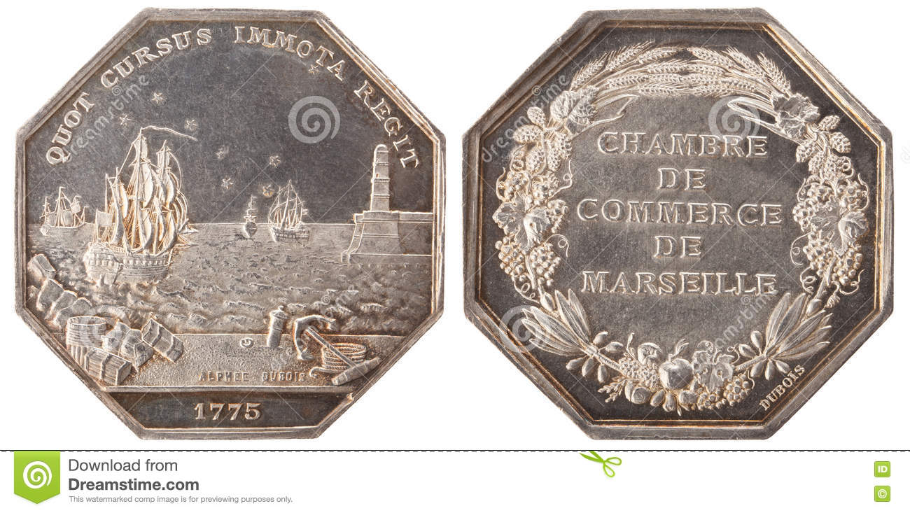 Chambre Du Commerce Marseille Silvers Token Stock Photo Image Of Silver Marine Marseille